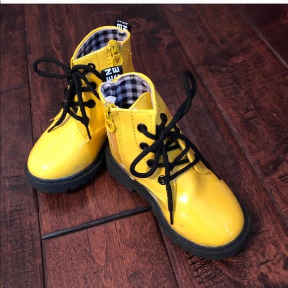 e0f4195f72 Shoes   Little Kids Yellow Combat Boots   Poshmark